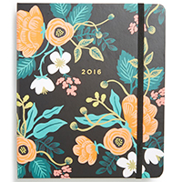 rifle paper floral planner