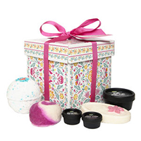 lush gorgeous bath set