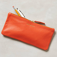 parisienne leather zip pouch gift for stylish teen girls