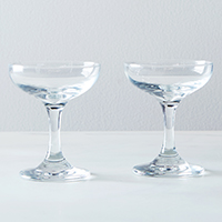 set of two champagne coupe glasses valentines day gift idea