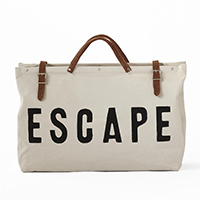 escape travel getaway bag new year's resolution tips