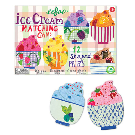 ice cream matching game sugar free valentines day gift for kids