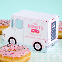 how to host a valentine's day dessert party with paper donut trucks
