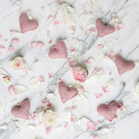 how to host a valentines day dessert party with pink heart garland